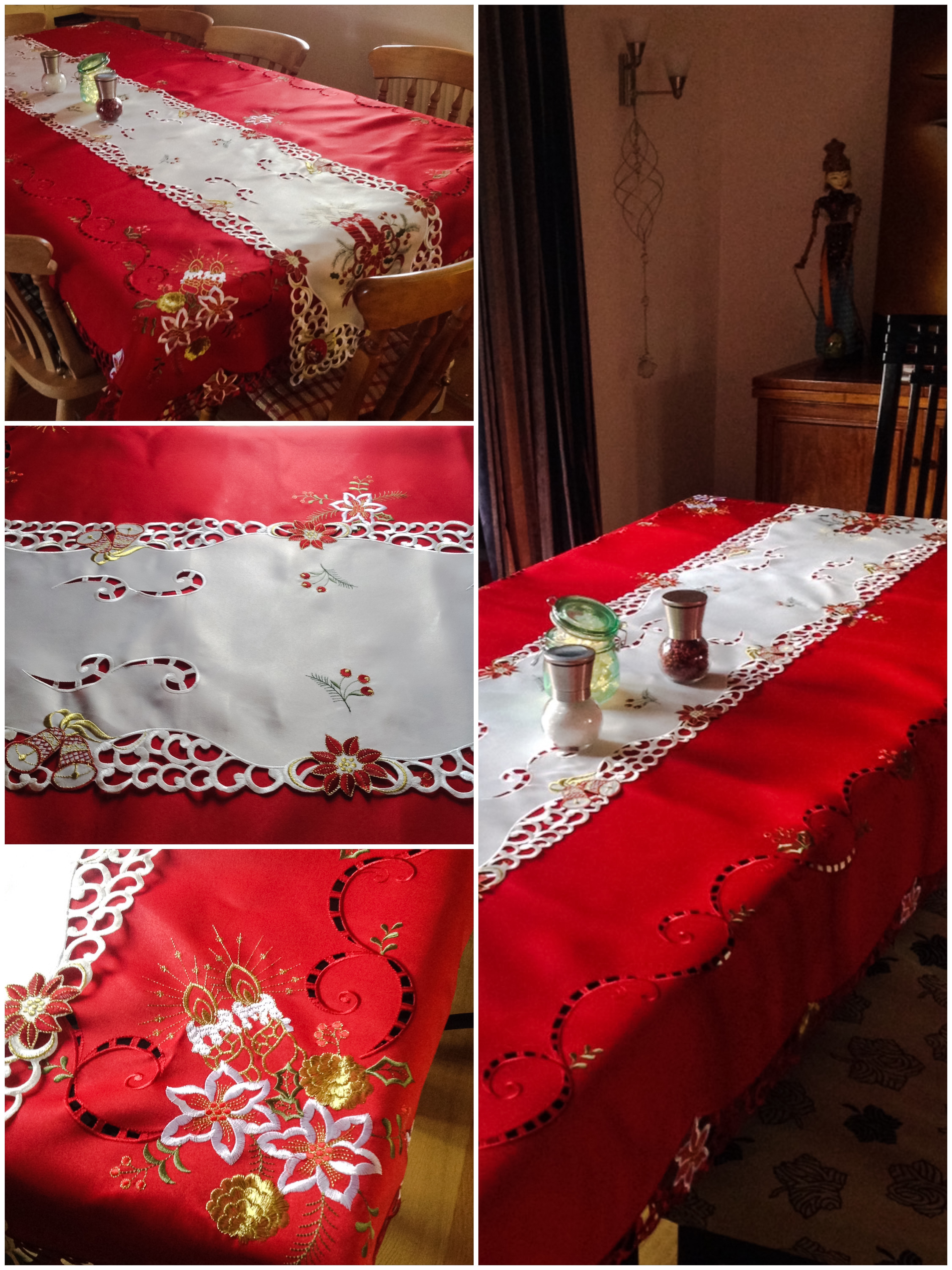 christmas table cloth and runner   cucina chef - Runner Cucina